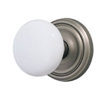 Antique White Porcelain Doorknob Set
