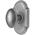 Emtek Savannah Door Knob in Satin Steel with Style #1 rosette
