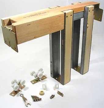 Pocket door frame kits pocket door hardware homestead for Door frame kit