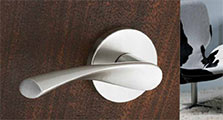 "Modern Style Stainless Steel Emtek ""Triton"" Lever Door Handle"