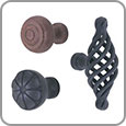 Cabinet Hardware - Wrought Steel Cabinet Knobs