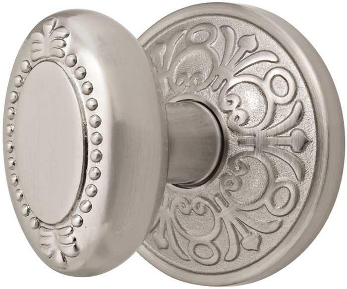 Emtek beaded egg brass door knob shop door knobs at - Satin nickel interior door knobs ...