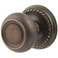 Emtek Belmont Brass Door Knob in Oil Rubbed Bronze with Rope rosette
