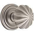 Emtek Melon Brass Door Knob in Pewter with Regular rosette