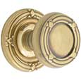 Emtek Ribbon & Reed Brass Door Knob in French Antique with Ribbon & Reed rosette