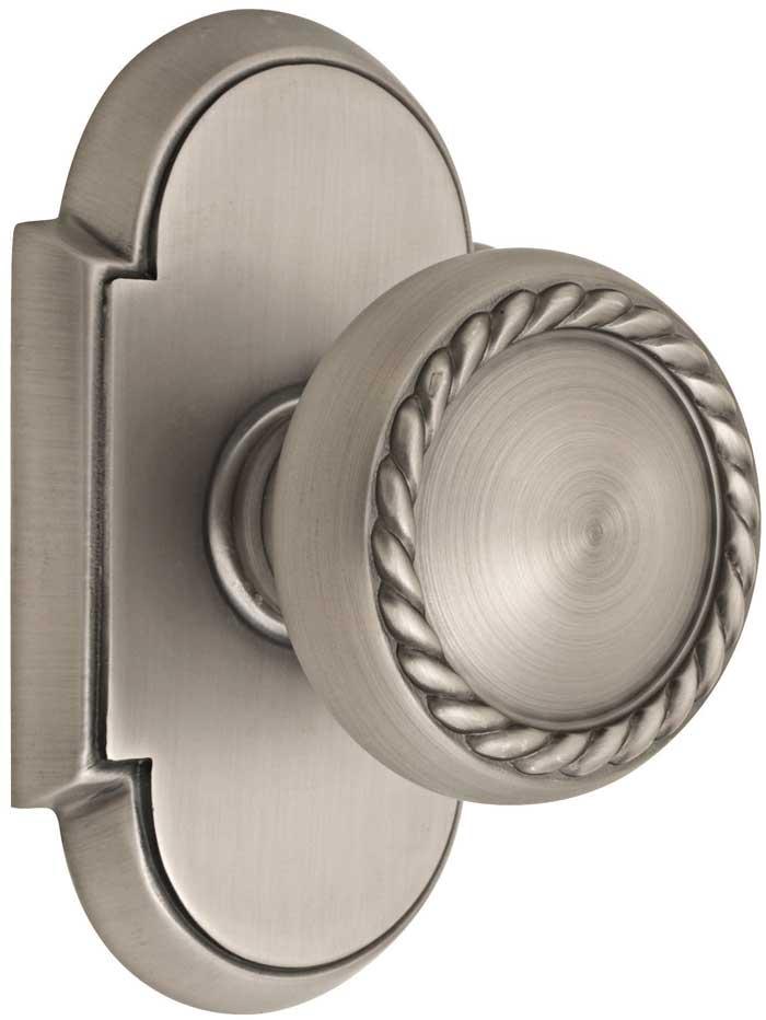 Emtek Rope Brass Door Knob Shop Door Knobs At Homestead