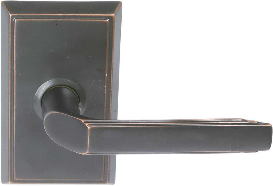 Emtek Milano Style Br Lever Door Handle Shown In Oil Rubbed Bronze Finish