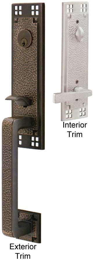 Emtek arts crafts brass entry door handle shop entry - How to clean exterior brass door handles ...