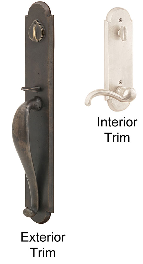 Emtek Greeley Sandcast Bronze Entry Door Handle