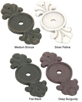 Emtek Bronze Cabinet Knob Backplate - Shop Cabinet Hardware at ...