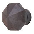 Emtek Octagon Bronze Cabinet Knob in Deep Burgundy
