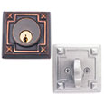 Emtek Arts & Crafts Brass Deadbolt Door Lock in Oil Rubbed Bronze and Satin Nickel