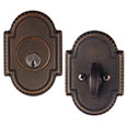 Emtek Knoxville Brass Deadbolt Door Lock in Oil Rubbed Bronze