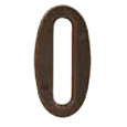 "Emtek 4-inch Brass ""0"" Address Number in Oil Rubbed Bronze"