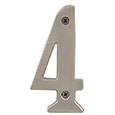 "Emtek 4-inch Brass ""4"" Address Number in Satin Nickel"