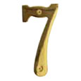 "Emtek 4-inch Brass ""7"" Address Number in PVD"