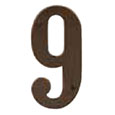 "Emtek 4-inch Brass ""9"" Address Number in Oil Rubbed Bronze"