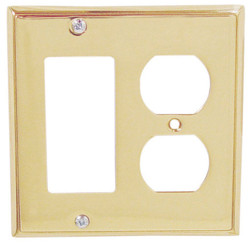 Emtek Colonial 1 Rocker Duplex Br Switchplate In Pvd