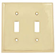 Emtek Colonial 2-Toggle Brass Switch Plate in PVD