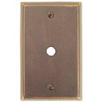 Emtek Colonial Cable Brass Outlet Cover in Oil Rubbed Bronze