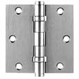 Emtek Brass Ball-Bearing Square Hinges in Satin Nickel