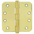 "Emtek Brass Residential-Duty 5/8""-Radius Hinges in PVD"