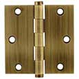 Emtek Brass Residential-Duty Square Hinges in French Antique