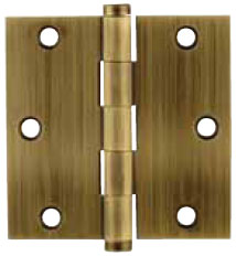 Emtek Brass Residential-Duty Square Hinge in French Antique
