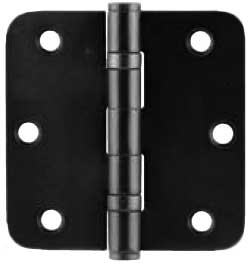 "Emtek Plated Steel Ball-Bearing Heavy-Duty 5/8""-Radius Hinge in Flat Black"