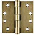 Emtek Steel Heavy-Duty Square Hinges in French Antique