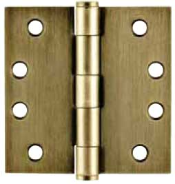 Emtek Plated Steel Heavy-Duty Square Hinge in French Antique