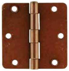 "Emtek Plated Steel Residential-Duty 1/4""-Radius Hinge in Rust"