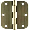 "Emtek Steel Residential-Duty 5/8""-Radius Hinges in French Antique"