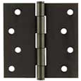 Emtek Steel Residential-Duty Square Hinges in Flat Black