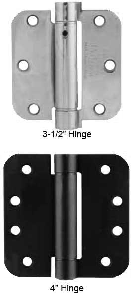 Spring Loaded Door Hinges : Emtek plated steel quot radius spring loaded door hinges