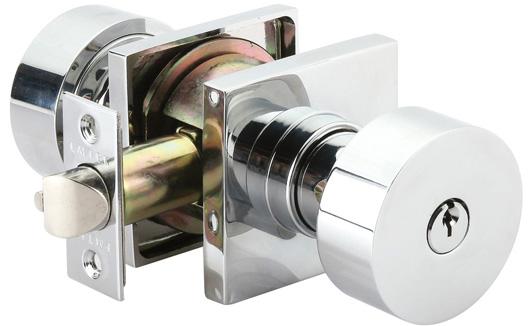 Emtek Round Keyed Door Knob Lock Set
