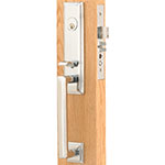 Emtek Manhattan Brass Mortise Door Lock Set in Satin Nickel