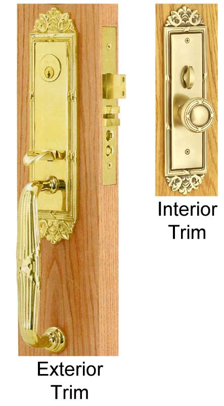Emtek Regency Brass Mortise Lock Shop Locks Hardware At