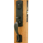 Emtek Morgan Bronze Mortise Door Lock Set in Medium Bronze