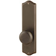 "Emtek Colonial 9"" Brass Door Handle Plate in Oil Rubbed Bronze with Providence knob"