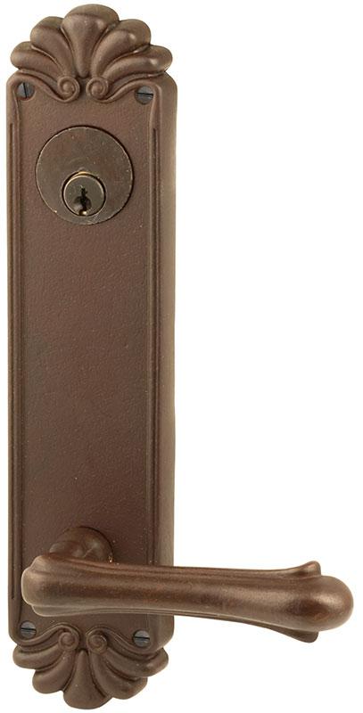 Emtek Style 16 10 1 8 Quot Keyed Bronze Door Handle Plate