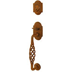 Emtek Lafayette Sectional Entry Door Handle Set in Rust