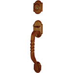 Emtek San Carlos Sectional Entry Door Handle Set in Rust